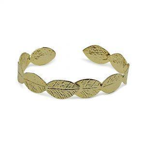 Handmade Bracelet Olive Leaf 24K Gold Finished | jewelryaccessories4u.com