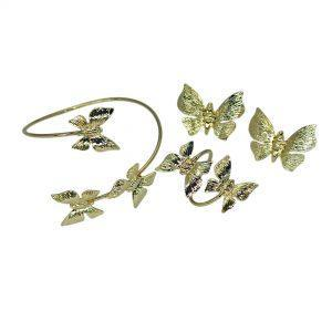 Handmade Butterfly Jewelry Set 24K Gold Finished | jewelryaccessories4u.com