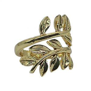 Women's Olive Leaf Ring Gold Finished | jewelryaccessories4u.com