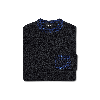 Women's Wool Jumper in Natural Black