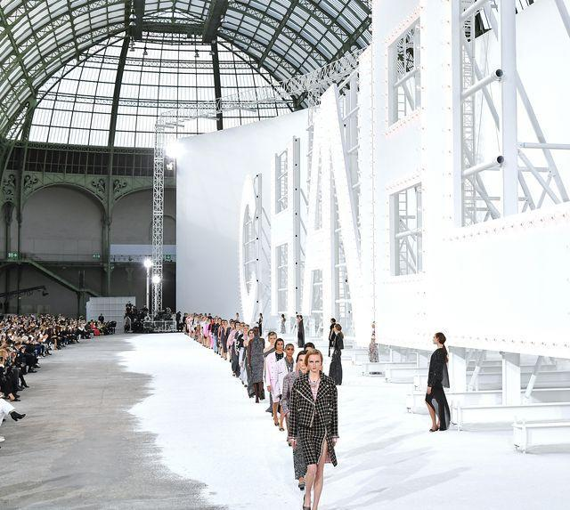 paris, france   october 06 a model walks the runway during the chanel womenswear springsummer 2021 show as part of paris fashion week on october 06, 2020 in paris, france photo by dominique charriauwireimage