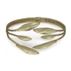 Bracelet Leaf Handmade 24K Gold Finished Matte | Aristocratic | https://jewelryaccessories4u.com